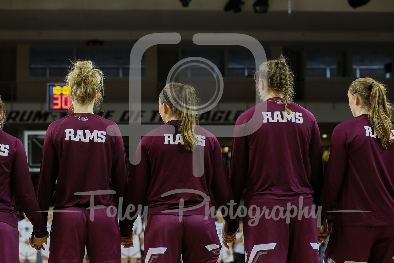 Nov. 16, 2017, Conte Forum, Chestnut Hill, Massachusetts: during the Eagles 55-52 victory over the Rams.