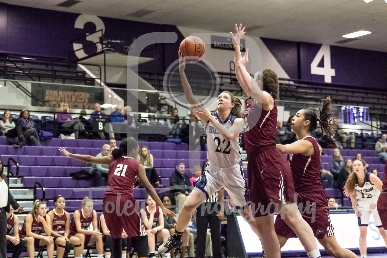Holy Cross Crusaders guard Nicole Morris (22)