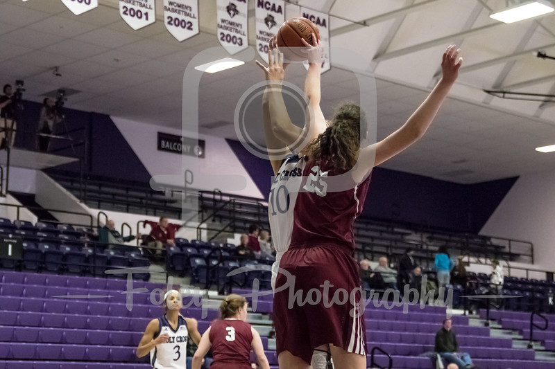 Holy Cross Crusaders center Megan Swords (10)