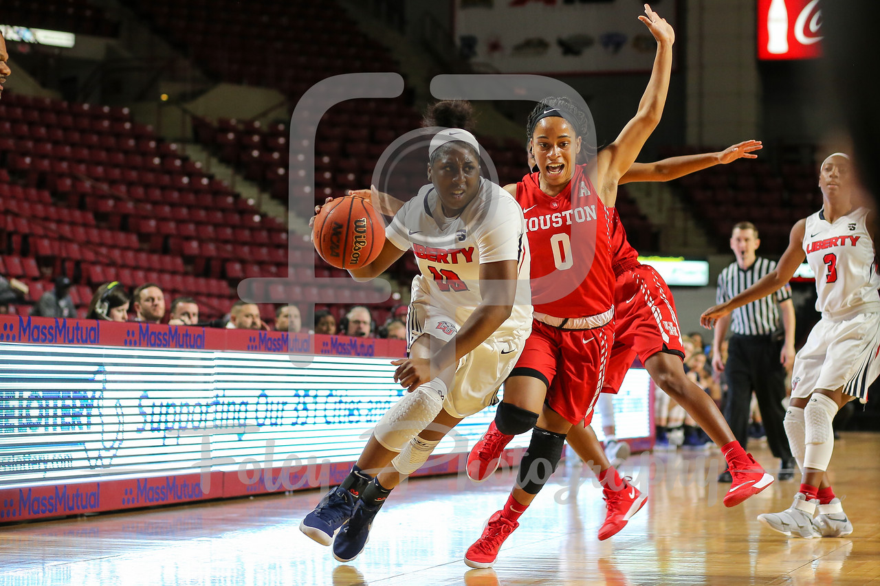Nov. 24, 2017, Mullins Center, Amherst, Massachusetts: during a matchup between the Flames and the Cougars