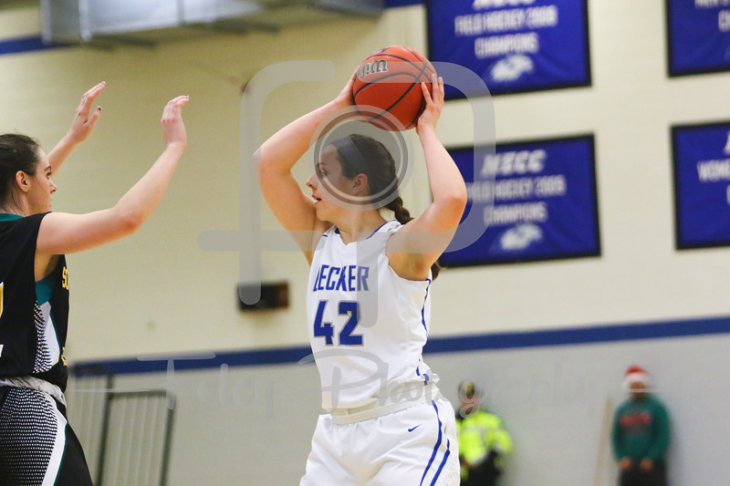 Becker College Hawks forward Sarah Ware (42)