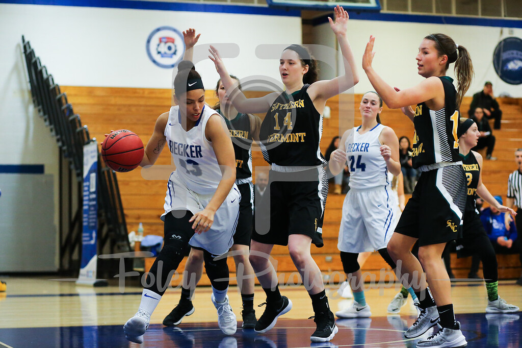Becker College Hawks forward Adrianna Dowdy (13)