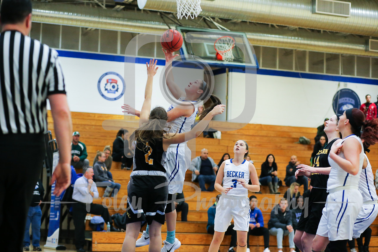 Becker College Hawks forward Ciara McKissick (24)