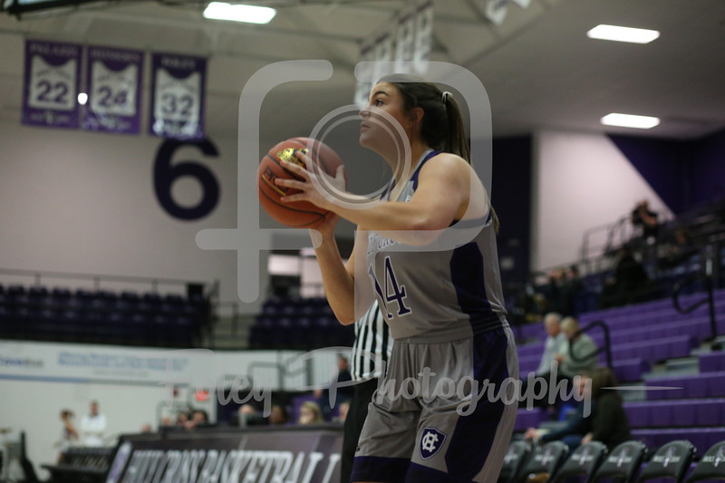 Holy Cross Crusaders guard/forward Kathryn Pedi (14)