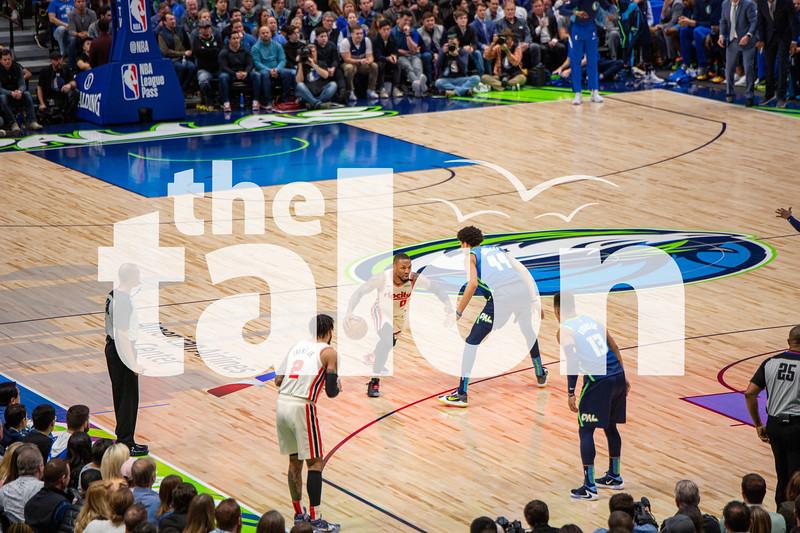 The Dallas Mavericks defeat the Portland Trail Blazers on 1-17-20 (Alex Daggett   The Talon News)