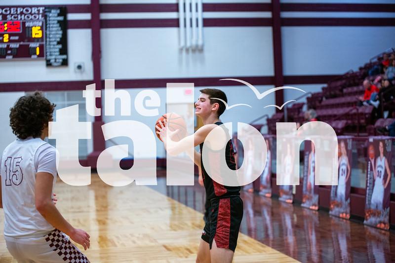 The Eagles defeat Bridgeport at Bridgeport high school on 01-28-20 . (Alex Daggett | The Talon news)