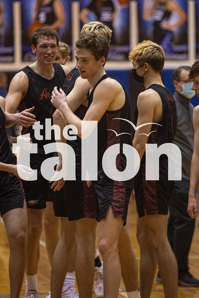 The Eagles take home a win against Decatur at Decatur High School on February 9, 2021. (Katie Ray | The Talon News)