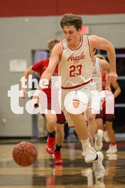 Eagles take on Gainesville on Jan. 16, 2018, at Argyle High School in Argyle, Texas. (Christopher Piel/The Talon News)