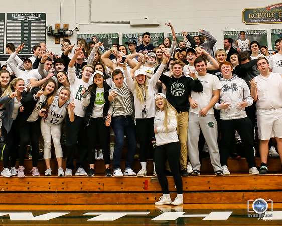 Elyria Catholic student body showing school spirit against Elyria February 4. photo Joe Colon