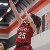 The JV Red Lady Eagles take on and defeat the Springtown Porcupines at Springtown High School on January 12, 2020. (Katie Ray | The Talon News)