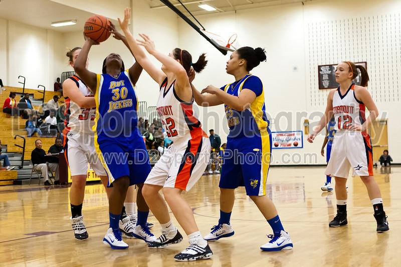Starmount Rams vs Carver Yellow Jackets Women's Varsity Basketball<br /> Mary Garber Classic Basketball Tournament Consolation Game<br /> Wednesday, December 22, 2010 at Adkins High School<br /> Winston-Salem, North Carolina<br /> (file 181756_803Q9372_1D3)