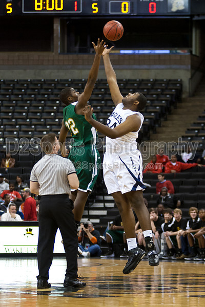 East Forsyth Eagles vs  West Forsyth Titans Men's Varsity Basketball<br /> Frank Spencer Holiday Classic Semifinals<br /> Tuesday, December 28, 2010 at Lawrence Joel Veterans Memorial Coliseum<br /> Winston-Salem, North Carolina<br /> (file 174842_803Q9873_1D3)