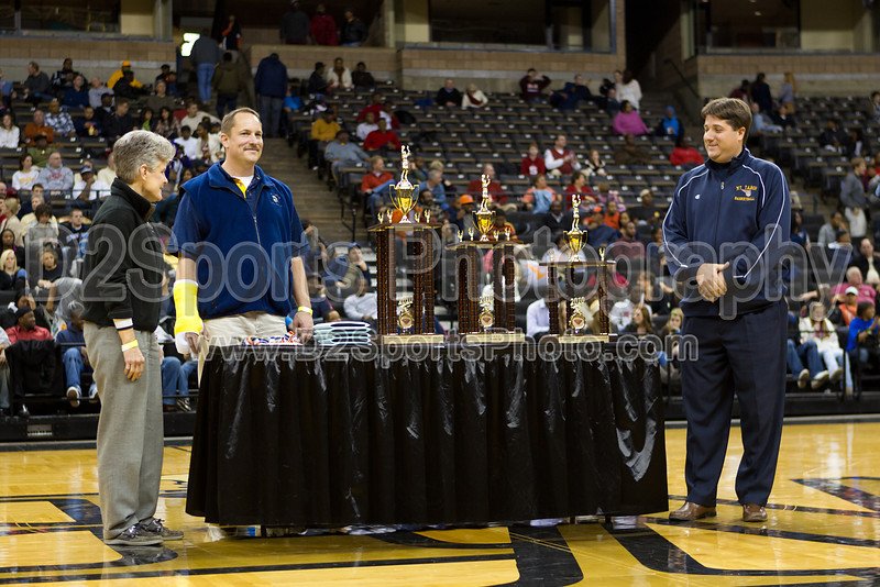 Frank Spencer Holiday Classic Award Ceremony - Journal Bracket<br /> Wednesday, December 29, 2010 at Lawrence Joel Veterans Memorial Coliseum<br /> Winston-Salem, North Carolina<br /> (file 202546_BV0H0816_1D4)