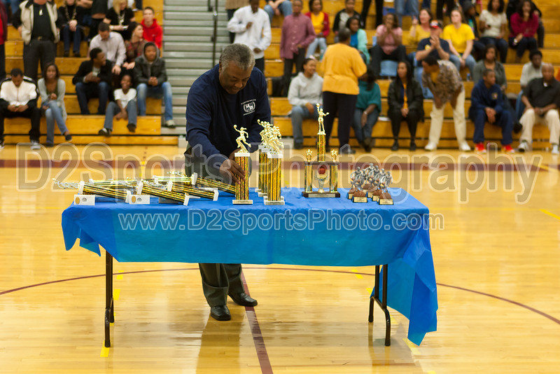 Awards Ceremony<br /> Mary Garber Classic Basketball Tournament<br /> Thursday, December 22, 2011 at Atkins High School<br /> Winston-Salem, North Carolina<br /> (file 215742_803Q9231_1D3)