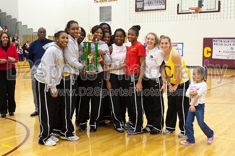 Awards Ceremony<br /> Mary Garber Classic Basketball Tournament<br /> Thursday, December 22, 2011 at Atkins High School<br /> Winston-Salem, North Carolina<br /> (file 220304_803Q9248_1D3)