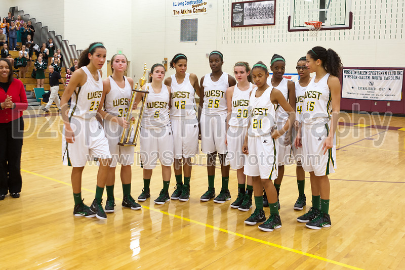 Awards Ceremony<br /> Mary Garber Classic Basketball Tournament<br /> Thursday, December 22, 2011 at Atkins High School<br /> Winston-Salem, North Carolina<br /> (file 220350_803Q9256_1D3)