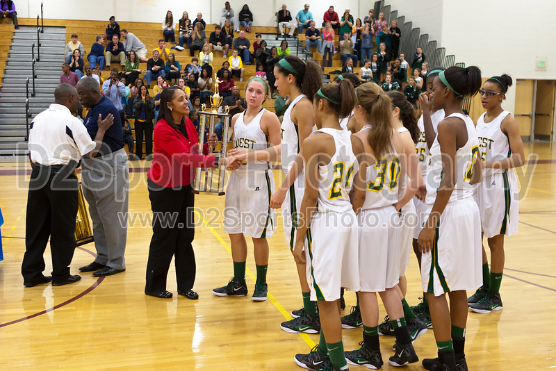 Awards Ceremony<br /> Mary Garber Classic Basketball Tournament<br /> Thursday, December 22, 2011 at Atkins High School<br /> Winston-Salem, North Carolina<br /> (file 220340_803Q9252_1D3)