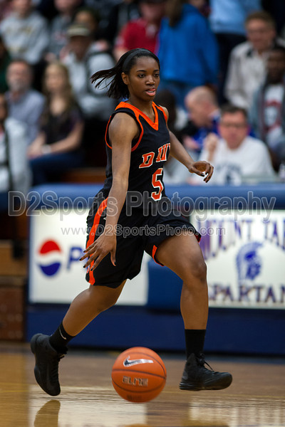 Mt Tabor Spartans vs Davie County War Eagles Women's Varsity Basketball<br /> Friday, February 01, 2013 at Mt Tabor High School<br /> Winston-Salem, North Carolina<br /> (file 181334_803Q7076_1D3)