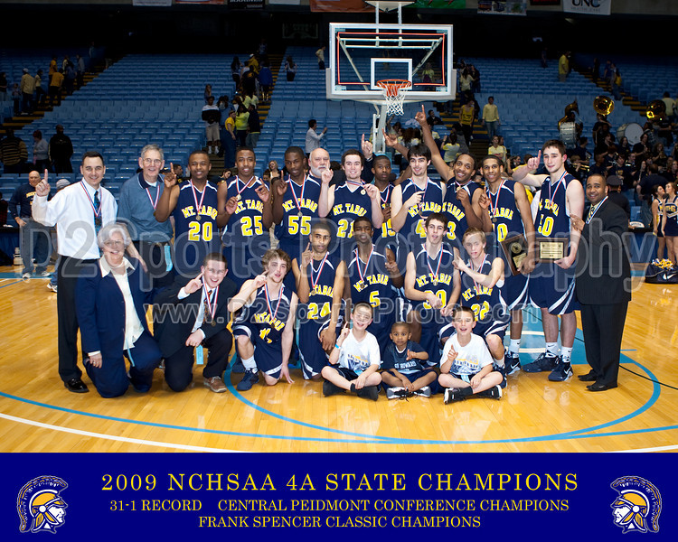 Mt Tabor Spartans - 2009 4A Basketball State Champions