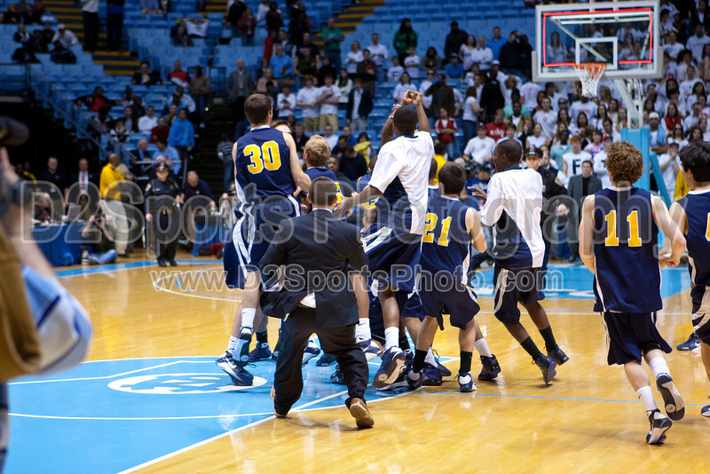 Mt Tabor vs Sanford Men's Varsity Basketball<br /> 4A State Championship Game - Mt Tabor 60 Sanford 55<br /> Saturday, March 14, 2009 at Dean Smith Center<br /> Chapel Hill, North Carolina<br /> (file 202100_803Q9333_1D3)