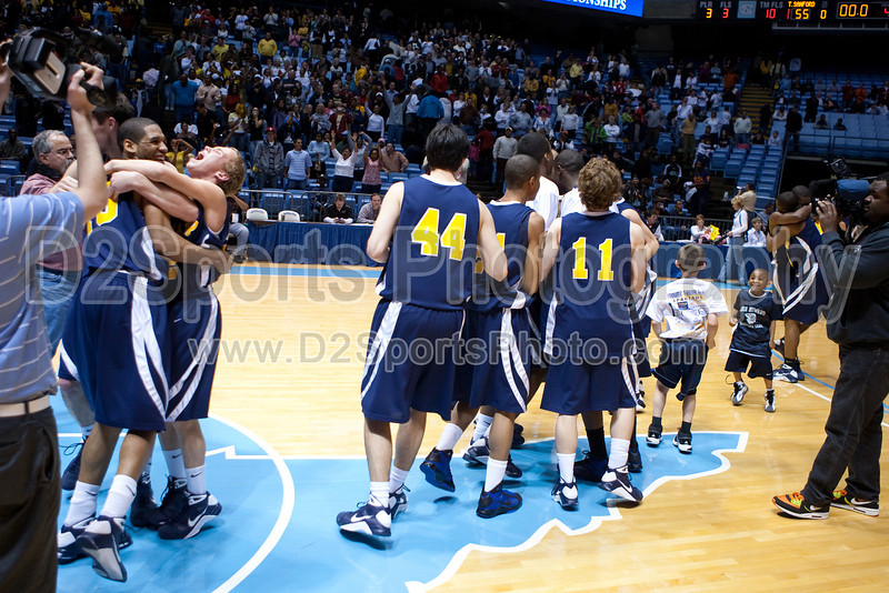 Mt Tabor vs Sanford Men's Varsity Basketball<br /> 4A State Championship Game - Mt Tabor 60 Sanford 55<br /> Saturday, March 14, 2009 at Dean Smith Center<br /> Chapel Hill, North Carolina<br /> (file 202110_803Q9342_1D3)