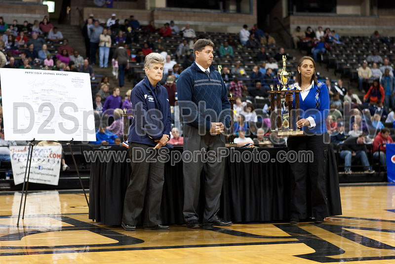 Awards Ceremony Pepsi Bracket<br /> Frank Spencer Holiday Classic Basketball Tournament<br /> Wednesday, December 28, 2011 at Lawrence Joel Veterans Memorial Coliseum<br /> Winston-Salem, North Carolina<br /> (file 202640_803Q1454_1D3)