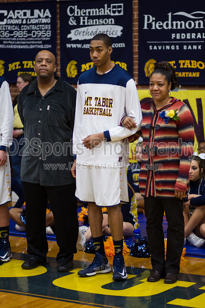 Tabor Senior Night<br /> Friday, February 08, 2013 at Mt Tabor High School<br /> Winston-Salem, North Carolina<br /> (file 192615_BV0H5499_1D4)