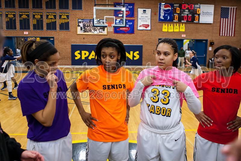 Mt Tabor Spartans vs N Davidson Black Knights Women's Varsity Basketball<br /> Senior Night<br /> Friday, February 08, 2013 at Mt Tabor High School<br /> Winston-Salem, North Carolina<br /> (file 174930_803Q7845_1D3)
