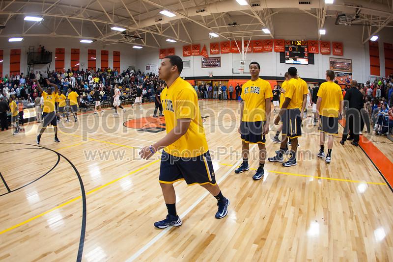 Mt Tabor Spartans vs Davie County War Eagles Men's Varsity Basketball<br /> CPC Tournament Championship Game<br /> Friday, February 22, 2013 at Davie County High School<br /> Mocksville, North Carolina<br /> (file 193530_803Q8925_1D3)