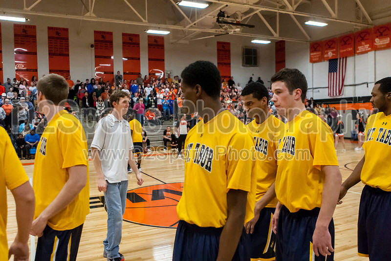 Mt Tabor Spartans vs Davie County War Eagles Men's Varsity Basketball<br /> CPC Tournament Championship Game<br /> Friday, February 22, 2013 at Davie County High School<br /> Mocksville, North Carolina<br /> (file 193215_803Q8911_1D3)