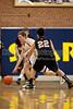 Mt Tabor Spartans vs N Davidson Black Knights Men's Varsity Basketball<br /> Friday, January 20, 2012 at Mt Tabor High School<br /> Winston-Salem, North Carolina<br /> (file 204908_803Q3008_1D3)