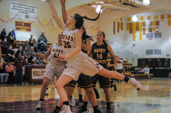 Highlights - St. Francis Girls Basketball vs. M-A.  CCS play. 2017-02-28