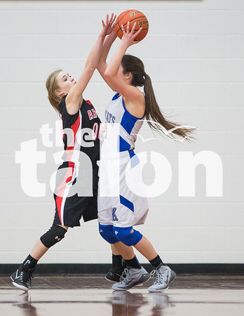 JV Lady Eagles vs Krum (1-23-15)
