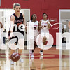 The Lady Eagles play against Gainesville on Feb. 2, 2018 at Gainesville Highschool in Gainesville, Texas, on February 2, 2018. (Quinn Calendine / The Talon News)