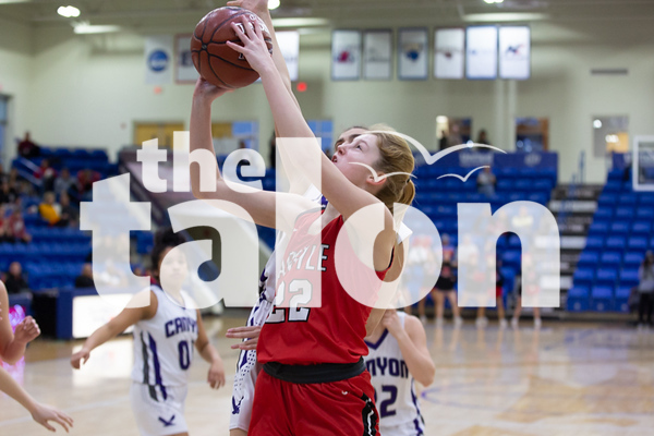 The Argyle Lady Eagles Basketball team plays against the Canyon Lady Eagles in the Region 1 Class 4A Basketball championship game at Lubbock Christian University in Lubbock Texas, on February 19, 2019. (Andrew Fritz | The Talon News)
