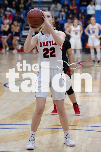 The Argyle Lady Eagles defeat the Levelland Loboettes in the Region 1 class 4A Final Championship game at Lubbock Christian University in Lubbock, Texas, on February 23, 2019. (Andrew Fritz | The Talon News)