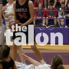 The Lady Eagles play against Sanger at Sanger Highschool in Sanger, Texas, on January 19, 2018. (Quinn Calendine / The Talon News)