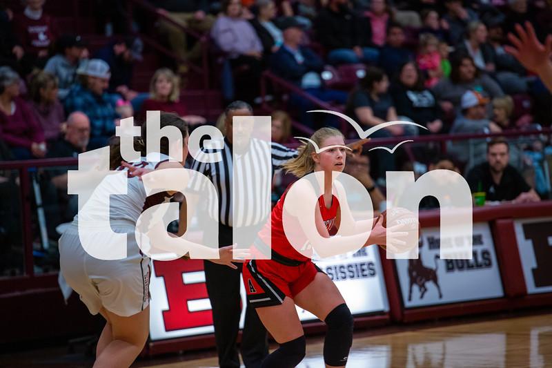 The Lady Eagles defeat the Bridgeport Sissies at Bridgeport on 01-28-20 . (Alex Daggett   The Talon news)
