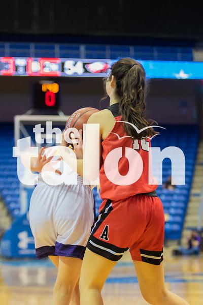 The Lady Eagles defeat the Godley Wildcats at UT Arlington on February 17, 2020. (Katie Ray | The Talon News)