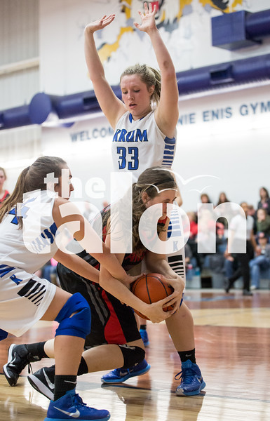 Lady Eagles vs Krum (1-23-15)