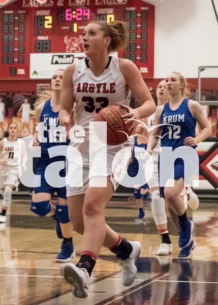 The Lady Eagles Play Krum on Friday the 27th.Friday,  Jan. at Argyle High School in Argyle, Texas. (Quinn Calendine / The Talon News)