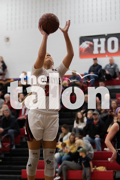 The Lady Eagles defeat the Springtown porcupines 70-29 at Argyle high school on February 4, 2020. (Katie Ray | The Talon News)