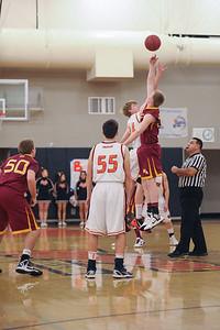 Menlo Atherton Varsity Men's Basketball vs. Woodside High   2013-01-25