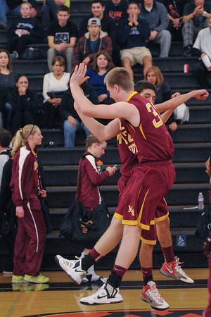 Menlo Atherton Men's Varsity Basketball vs. Woodside High, 2013-01-25