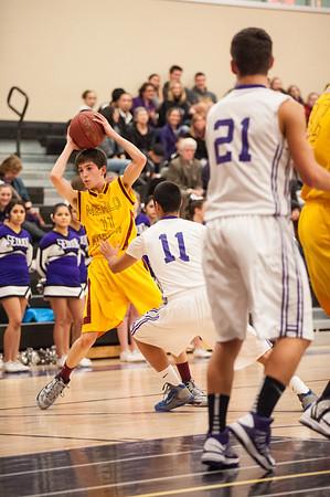 Menlo Atherton Varsity Mens Basketball vs. Sequoia High 2013-01-11