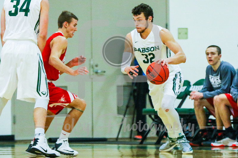 Babson College Beavers guard Joey Flannery (32)