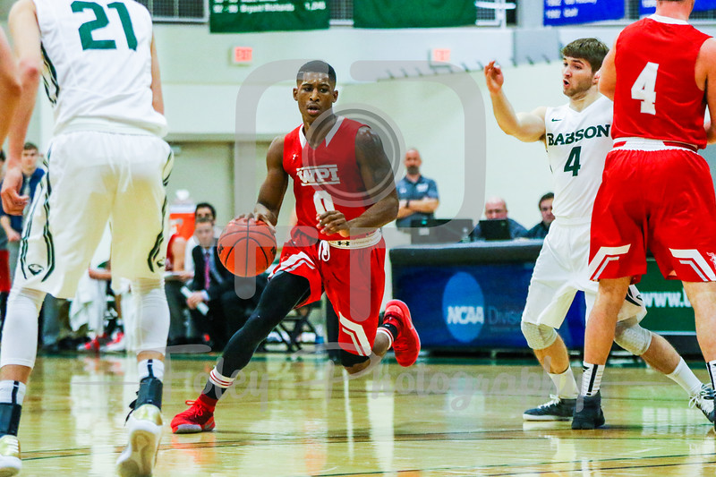 WPI Engineers guard Jamani Spencer (0)