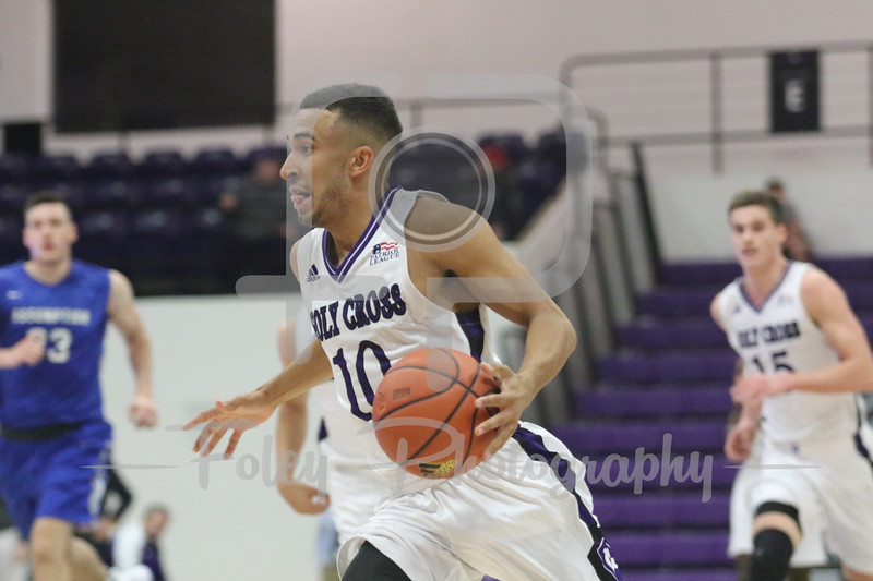Nov. 1, 2017, Hart Center at the Luth Athletic Complex., Worcester, MA: during the Crusaders 74-52 victory over the Greyhounds in an exhibition game.