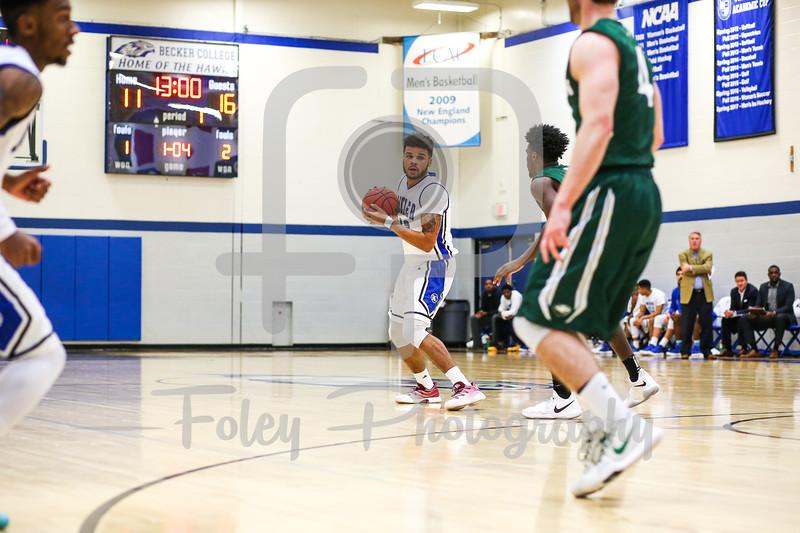 Becker College Hawks forward Dewayne Thomas (12)