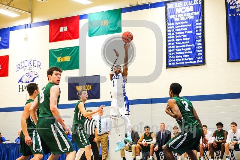 Becker College Hawks guard Kareem Davis (1)